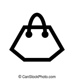 Shopping bag icon.