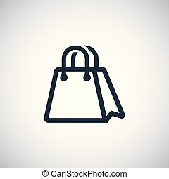 shopping bag icon simple flat element design concept