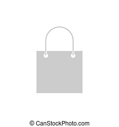 Shopping bag icon. Store bag silhouette vector isolated on white.