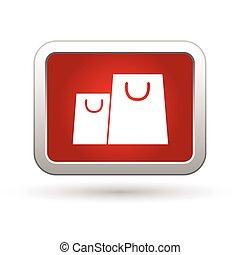 Shopping bag icon. Vector