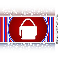 shopping bag icon web button