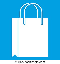 Shopping bag icon white