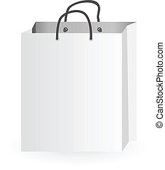 Iconic illustration of white shopping bag