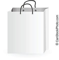Shopping Bag - Iconic illustration of white shopping bag