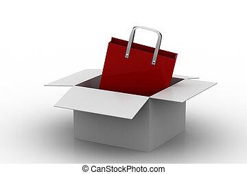 Shopping bag in a box