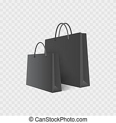 Shopping bag. Isolated on white. Sale. Vector