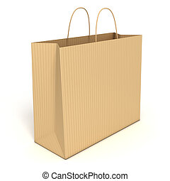 shopping bag isolated - shopping bag isolated over white...