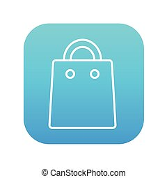 Shopping bag line icon.