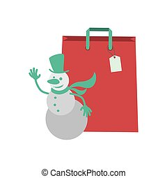 Shopping bag of Merry Christmas design
