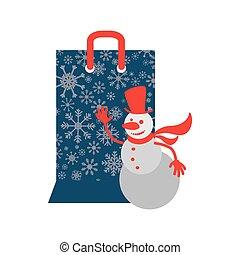 Shopping bag of Merry Christmas design
