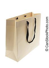 Shopping Bag on Isolated White Background