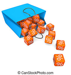 Shopping Bag Percent Cubes
