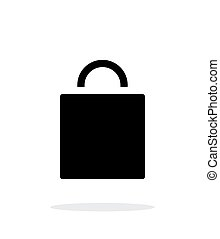 Shopping bag simple icon on white background.
