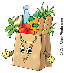 Shopping bag theme image 1 - eps10 vector illustration.