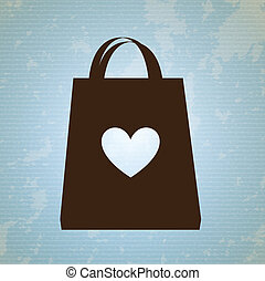 shopping bag design over blue background vector illustration...