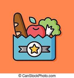 shopping bag vector icon