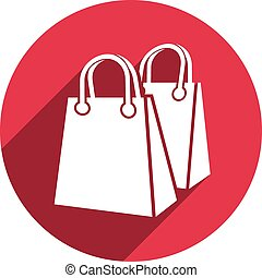 Shopping bag vector icon isolated.