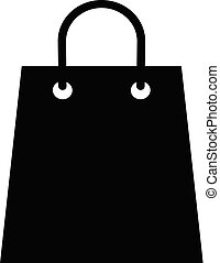 Shopping bag vector icon isolated on white background for graphic design, logo, web site, social media, mobile app, illustration