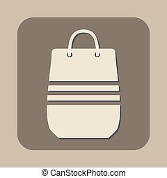 shopping bag vector icon