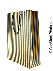 Shopping bag with a clipping path