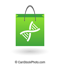 Shopping bag with a DNA sign