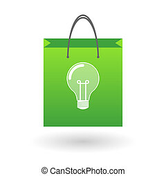 Shopping bag with a
