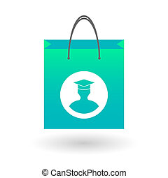 Shopping bag with a student sign