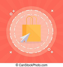 shopping bag with mouse arrow