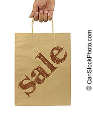 Shopping bag with SALE text