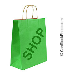 """Shopping bag with """"SHOP"""" text"""