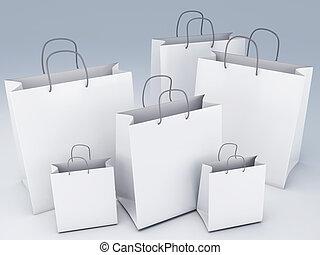 shopping bags 3d