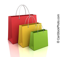 shopping bags  3d illustration