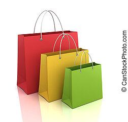 shopping bags  3d illustration