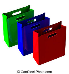 Shopping bags. 3D rendering.