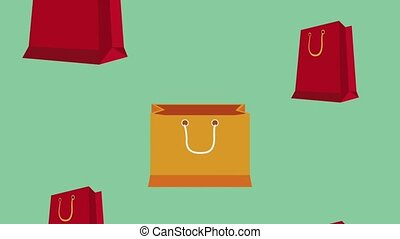 Shopping bags background HD animation