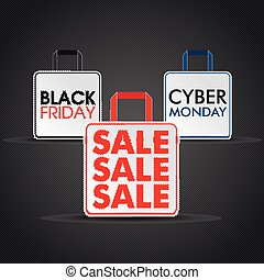 Shopping Bags Black Friday Cyber Monday