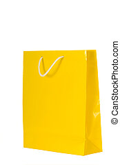 Shopping Bags - Bright colored shopping bags on white...