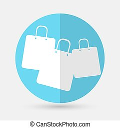 Shopping bags icon on a white background