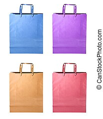 Shopping bags isolated on white