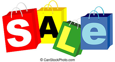 Shopping Bags - Sale Sign - Shopping Bags in Different...