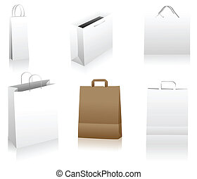 Shopping bags - Set of shopping bags. You can place your...