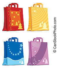 Shopping bags - Illustration of shopping bags holiday...