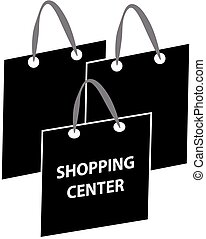 Shopping bags symbol isolated on white background