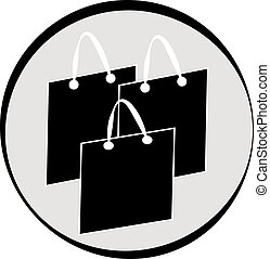 Shopping bags symbol isolated on white background