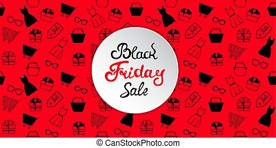 shopping., bandiera, venerdì, vendita, donne, nero, pubblicità, accessori, abbigliamento