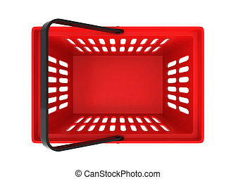 Shopping basket. 3d illustration isolated on white ...