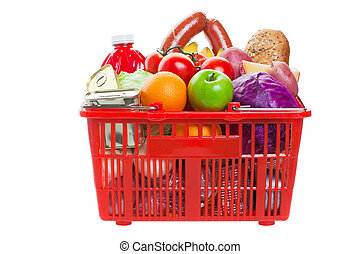 Shopping basket - A shopping basket full of fresh colorful ...