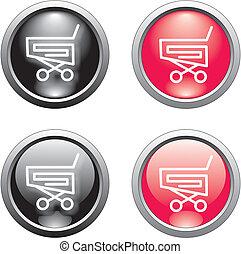 shopping basket  button or icon