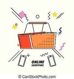 shopping basket buy online icon