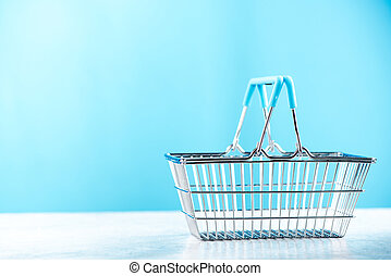 Shopping basket, copy space